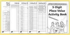 Back to School Place Value Revision of 5-Digit Numbers Activity Booklet