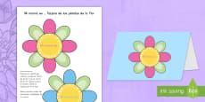 Manualidad: Tarjeta de pétalos de flor para el Día de la Madre