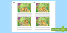 Australia - The Lion and the Mouse Storyboard Template