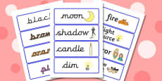 Light and Colour Topic Word Cards (New Lower)