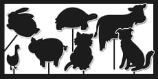 Animal Silhouette Cut Outs
