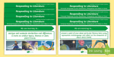 * NEW * Literature Content Descriptions Responding to Literature Display Posters