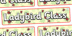 Ladybird Themed Classroom Display Banner