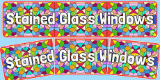 Stained Glass Windows Display Banner