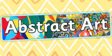 Abstract Art Display Banner