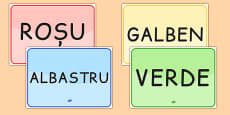 Colour Signs EAL Romanian