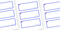 Great Britain Themed Editable Drawer-Peg-Name Labels (Blank)