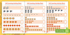 Fall Differentiated Counting Activity Sheet