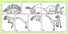 Realistic Dinosaurs Colouring Pages