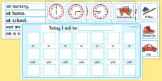 Routine Chart Pack with Place, Time, and Person