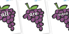 Tricky Words on Grapes