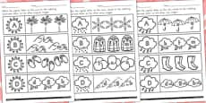 Australia - Winter Themed Capital Letter Matching Activity Sheet Temperate