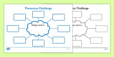 Thesaurus Challenge Worksheet