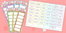Year 1 Maths Assessment Bookmarks and Cut Outs