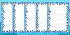 Sea Themed Page Borders