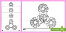 Fidget Spinner Mindfulness Colouring Pages