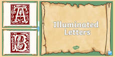 * NEW * Illuminated Letters PowerPoint