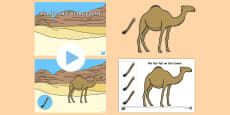 Pin the Tail on the Camel Game