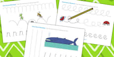 Pencil Control Sheets to Support Teaching on The Bad Tempered Ladybird
