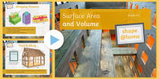 Shape at Home Surface Area and Volume (GCSE grades 4 to 5) PowerPoint