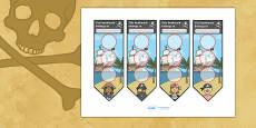 Pirate Sticker Reward Bookmarks (30mm)