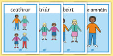 Counting People Posters 1-10 Gaeilge