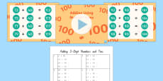 Adding Two-Digit Numbers up to 100 Teaching Pack