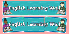 English Learning Wall Display Banner
