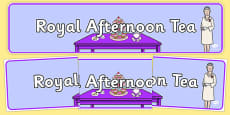 Royal Afternoon Tea Role Play Banner