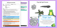 EYFS Frog Life Cycle Threading Finger Gym Plan and Resource Pack