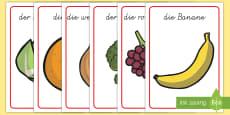 Früchte und Gemüse Poster für die Klassenraumgestaltung
