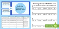Year 6 Numbers to 10,000,000 Lesson 4 Teaching Pack