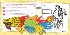 Australia - Chinese New Year Handprint Paper Dragon Craft