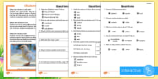 * NEW * KS1 Chickens Differentiated Comprehension Go Respond Activity Sheets