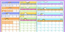 Academic Year Monthly Calendar Planning Template 2016-2017 Arabic Translation
