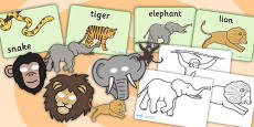 Jungle Animal Themed Story Sack Resource Pack