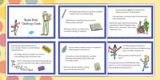 Roald Dahl Challenge Cards