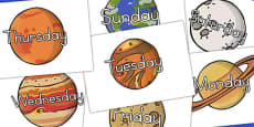 Days Of The Week Planets (Australia)