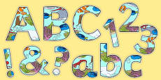Under the Sea Adventure Display Letters and Numbers Pack