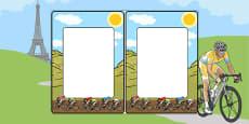 Tour de France Themed Editable Notes