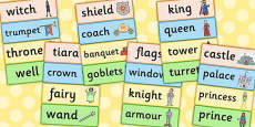Fairytale Castle Word Cards