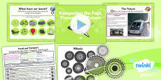 PlanIt - History KS1 - Travel and Transport Lesson 6: Comparing the Past, Present and Future Lesson Pack