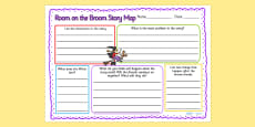 Room on the Broom Story Map Writing Frame