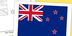 New Zealand Flag Display Poster