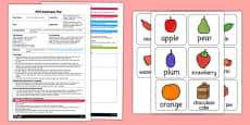 What's Missing Game EYFS Adult Input Plan and Resource Pack to Support Teaching on The Very Hungry Caterpillar
