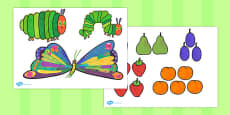 Australia - Story Cut Outs to Support Teaching on The Very Hungry Caterpillar