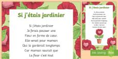 * NEW * Poème : Si j'étais jardinier - La fête des mères