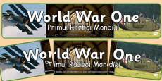 World War One Photo Display Banner Romanian Translation