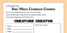 Star Wars Creature Creator Activity Sheet