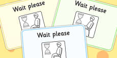 Waiting Cards